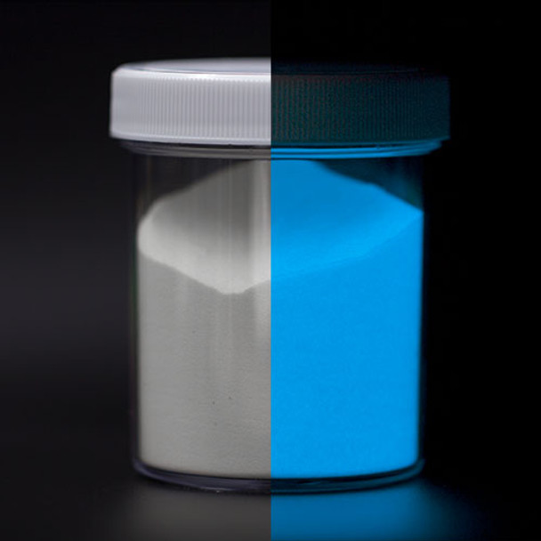 blue glow in the dark powder