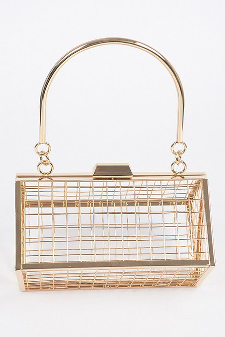 Andi Metal Cube Purse- top view-3