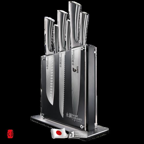 PRE SALE - GIANTS Custom Chef Baccarat Damashiro Kin Knife Block 7 Piece
