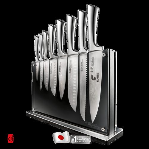 PRE SALE - GIANTS Custom Chef Baccarat Damashiro Nami Knife Block 9 Piece