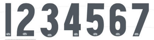 AFL Numbers Charcoal Large