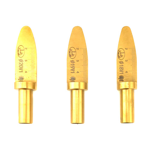 Set of Three V1 Freehand Drilling Spoon Bits by Yu Xuanjie Straight Wall to Taper Nose