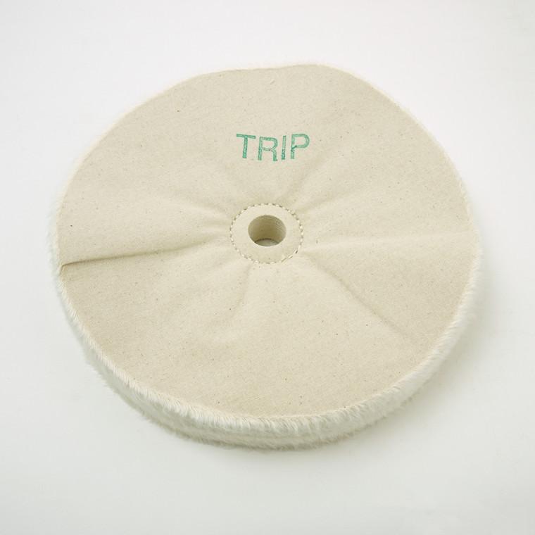 "Beall Wood Buff 8"" Tripoli Wheel w/ 3/4"" Hole"