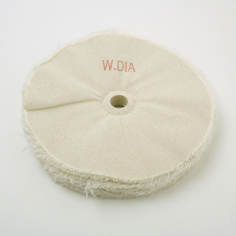 "Beall Wood Buff 8"" White Diamond Wheel w/ 3/4"" Hole"