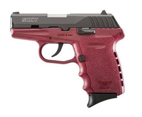 SCCY CPX-2CBCR 9MM 10+1 No Safety, Polymer Frame CPX-2 Black/Crimson
