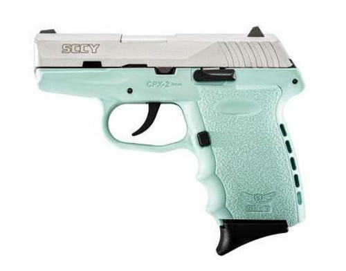 SCCY CPX-2TTSB 9MM 10+1 No Safety, Polymer Frame CPX-2 SS/Blue
