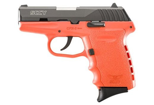 SCCY CPX-2CBOR 9MM 10+1 No Safety, Polymer Frame CPX-2 Black/Orange