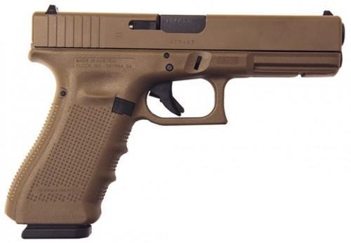 """Glock G22 Gen 4 Full FDE .40S&W 15+1 4.5"""" FS 3-15RD Mags Accessory Rail PG2250201D"""