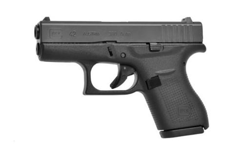 GLOCK G42 Gen 3 380ACP 6RD Fixed Sights, Black, 2-6RD Mags UI4250201