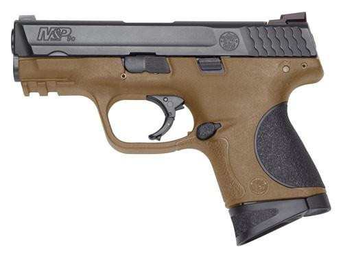 "Smith&Wesson 10194 M&P9C Compact 9MM, Flat Dark Earth Poly, 12+1, 3.5"" Barrel, Fixed Sights"