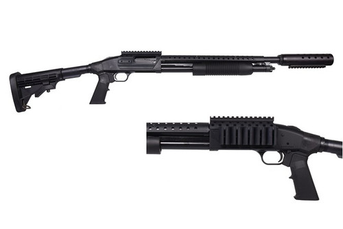 "Mossberg 500 Shotgun 12GA. 3"" Image Enhanced, 6-Shot, 18.5"" Barrel, Matte, 6-Pos Stock"