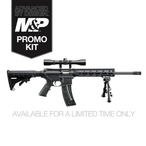 Smith&Wesson M&P15-22 SPORT Optics Ready 4x Scope, Bipod 25 Round Promo Kit 13605