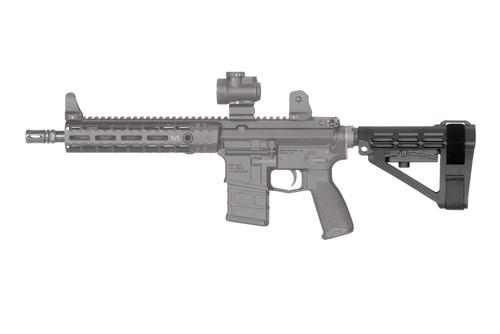 SB Tactical SBA4 Pistol Stabilizing Brace - black left ghost