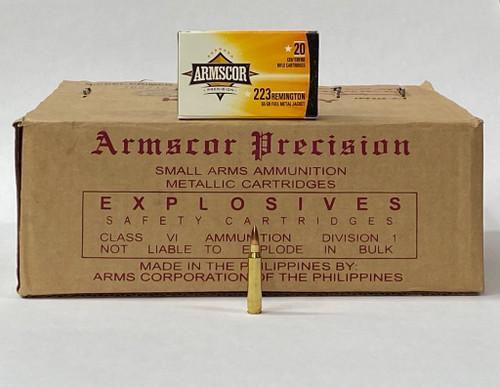 Armscor Precision 223 Rem 55GR FMJ 1000RD Case