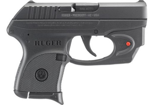 Ruger LCP 03752 380ACP 6+1 with Trigger Mounted Veridian E-Series Red Laser includes Soft Case & 1 Magazine