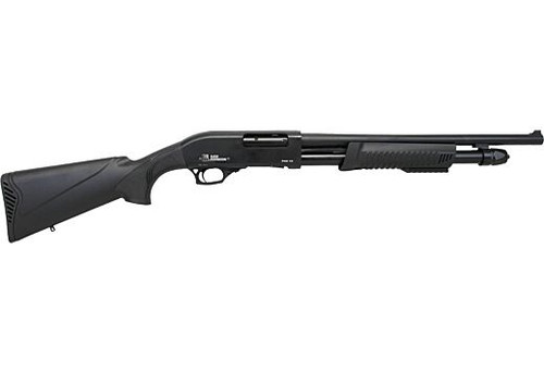 "Iver Johnson PAS12 Pump Shotgun 12GA. 3"", 5-Shot, 18"" Barrel, Blued Synthetic"