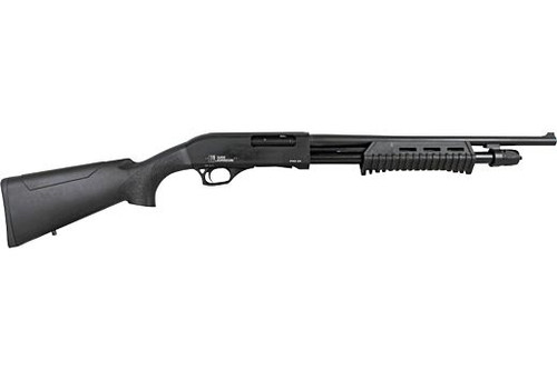 "Iver Johnson PAS20 Pump Shotgun 20GA. 3"", 5-Shot, 18"" Barrel, Blued Synthetic"
