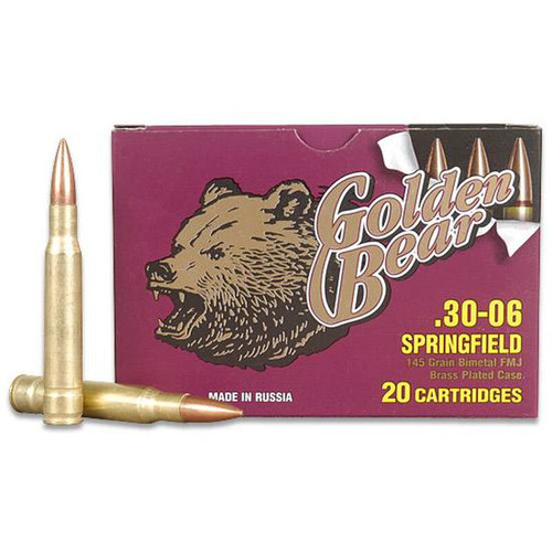 Golden Bear .30-06 Springfield 145 Grain FMJ 20 Round Box AG30FMJ