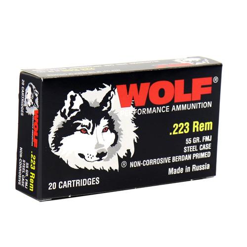Wolf 223 Rem 55GR FMJ 20RD 22355WFMJ