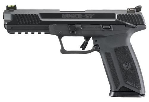 Ruger 57 5.7X28mm Adjustable Sights, 20+1, Black 16401