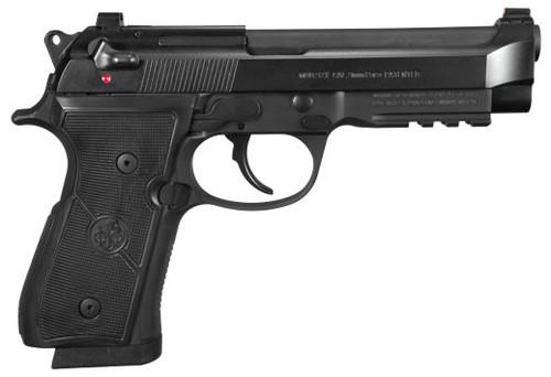 """Beretta 92X 9MM Full Size Pistol 4.7"""" Barrel with Rail, Black, Includes 3 Magazines J92FR920, J92FR921"""