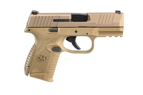 """FN  509C 9mm FDE, 3.7"""" Barrel, 15+1, Fixed Sights, 2 Magazines, and Soft Case 66-100818"""