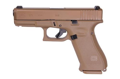"Glock 19X 9MM, 4.01"" Marksman Barrel, FDE Polymer Frame, Slide, Magazines, & Box, 2-19Rd, 1-17Rd, No Finger Grooves, Glock Night Sights UX1950703"
