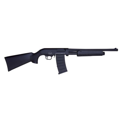 """Black Aces Tactical Pro Series M 12GA Semi-Auto Shotgun, 5-Shot, 18.5"""" Barrel Black Finish BATSASS18"""