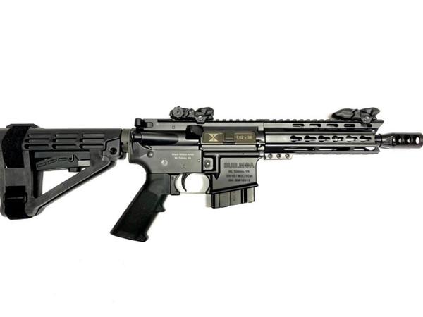 Black Widow Venom 7.5 Pistol 7.62x39 shown with SB Tactical SBA4 Brace and 10RD mag