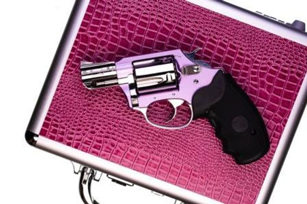 Charter Arms Chic Lady Undercover Lite .38 Special 53842/Lavender Lady Lavender and Stainless Crimson Trace Laser Grip and Gun Vault