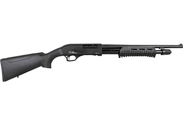 "Iver Johnson PAS20 Pump Shotgun 20GA. 3"", 5-Shot, 18"" Barrel, Blued Synthetic"