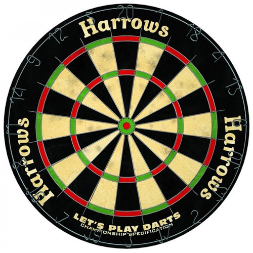 Harrows Dartboard Lets Play Darts Set