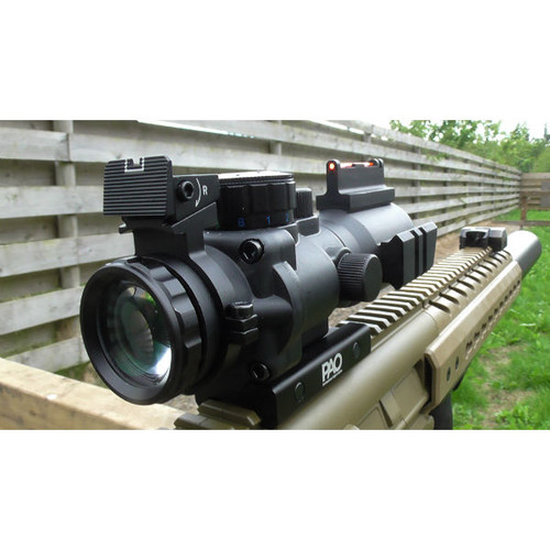 PAO  4 x 32 Tri-Lume Prismatic Mil-Dot Ultra-Compact 'ACOG' Scope