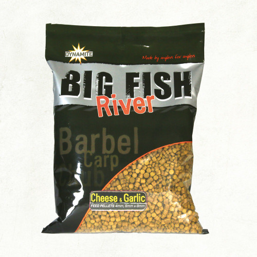 Dynamite Baits Big River Pellets Cheese & Garlic