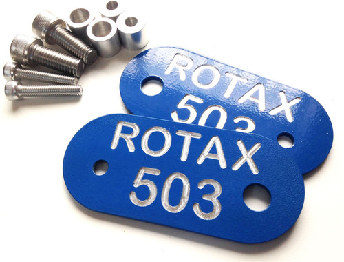 Rotax 503 Badge Gearbox Plate - hide those ugly gearbox holes!