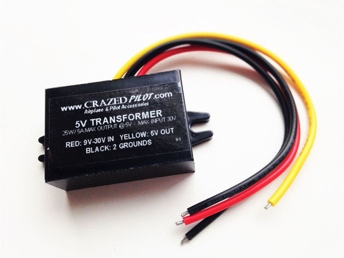 5V Converter – Stepdown Transformer, Input 12V, 24V, up to 30V for Aircraft / Airplane