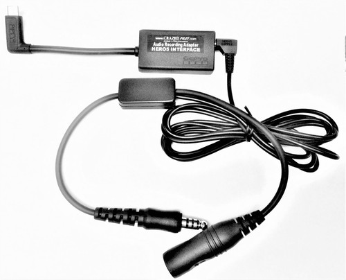 GoPro HERO5 / HERO6 / HERO7 / HERO8 BLACK / 2018 HELICOPTER Recording Cockpit Adapter Cable