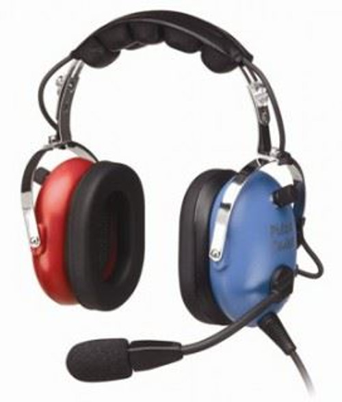 Child / Youth Passive Aircraft Stereo Headset - Blue & Red