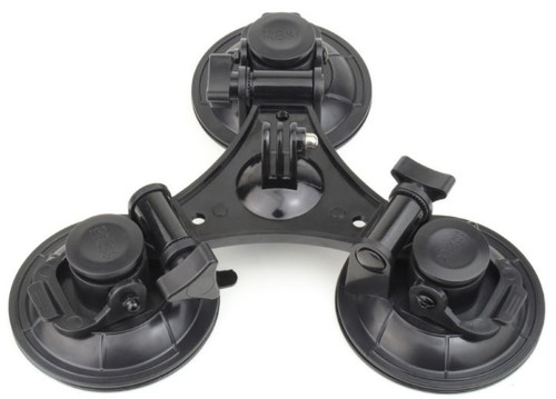 Triple Head Camera Suction Mount for Aircraft or Heli