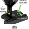 SEBO FELIX ONYX UPRIGHT VACUUM CLEANER POWER HEAD, SMART HEAD