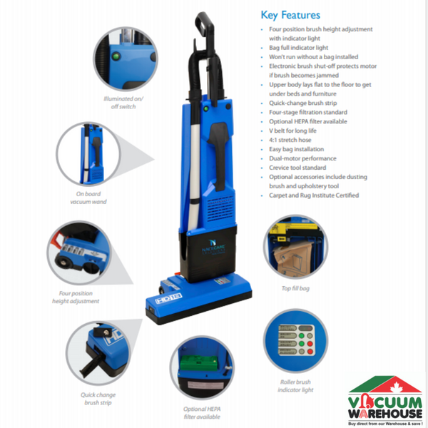 Nacecare HD14 Commercial Upright Vacuum Cleaner