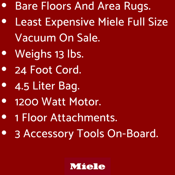 miele c3 limited edition vacuum sale