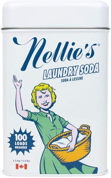 Nellie's 100 Load Laundry Soda Tin