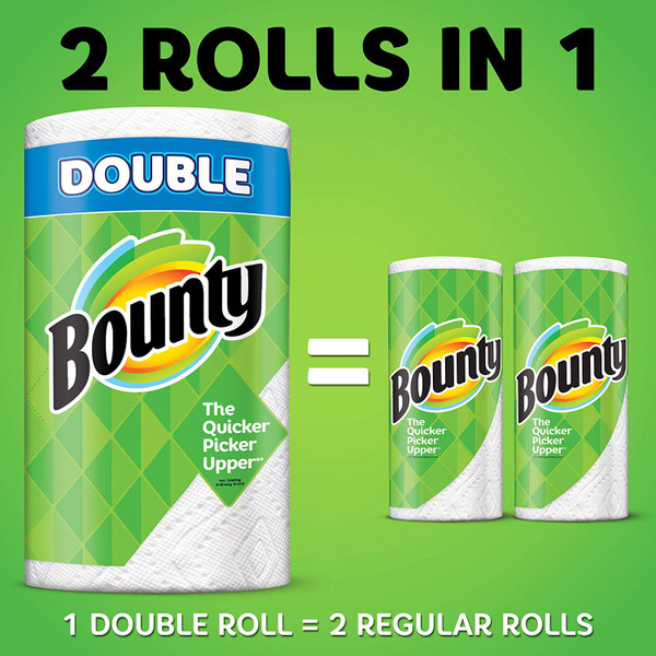 BOUNTY SELECT-A-SIZE PAPER TOWELS WHITE 6 DOUBLE ROLLS