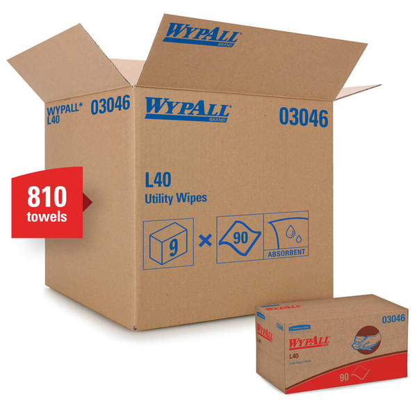 Janitorial and Cleaning Supplies,Disposable Paper,Cleaning Wipe, Disposable Paper,Wipes,WYPALL,KCC03046CS,Wypall L40 Disposable Cleaning Towels 03046
