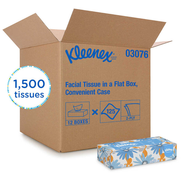 Janitorial and Cleaning Supplies,Disposable Paper,Paper Tissue,KLEENEX,KCC03076CS,Kleenex Professional Facial Tissue 03076