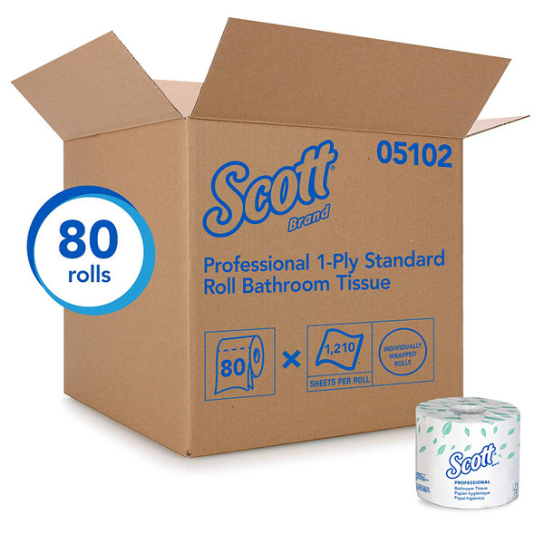 Janitorial and Cleaning Supplies,Disposable Paper,Paper Tissue, Disposable Paper,Toilet Paper,SCOTT,KCC07001CS,Scott Essential Standard Roll Bathroom Paper Tissue 07001