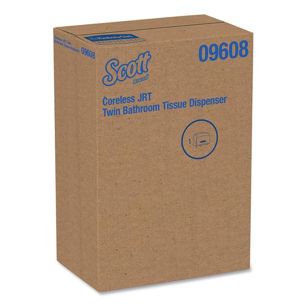 SCOTT ESSENTIAL CORELESS TWIN JUMBO ROLL TISSUE DISPENSER 09608