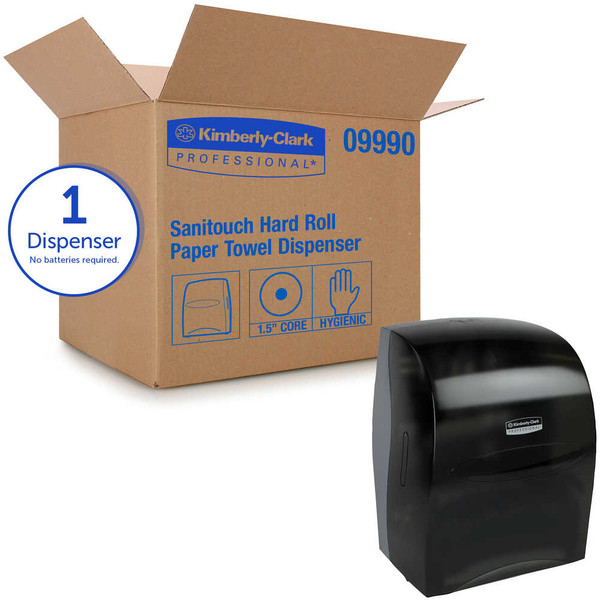 Janitorial and Cleaning Supplies,Dispensers,Paper Dispensers,KIMBERLY-CLARK,KCC09990CS,Kimberly-Clark Professional Sanitouch Hard Roll Towel Dispenser 09990