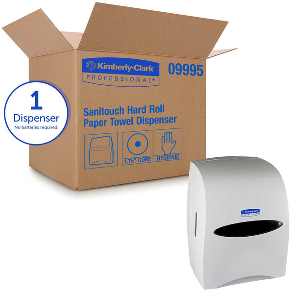 Janitorial and Cleaning Supplies,Dispensers,Paper Dispensers,KIMBERLY-CLARK,KCC09995CS,Kimberly-Clark Professional Sanitouch Hard Roll Towel Dispenser 09995